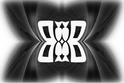 Abstract Black and White Graphic Design.jpeg English: An abstract, symmetrical graphic design in black and white. Somewhat resembling the shape