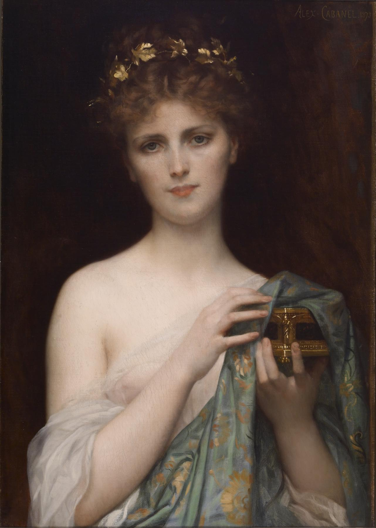 Swedish soprano Christine Nilsson as Pandora by Alexandre Cabanel.[12] The Walters Art Museum.