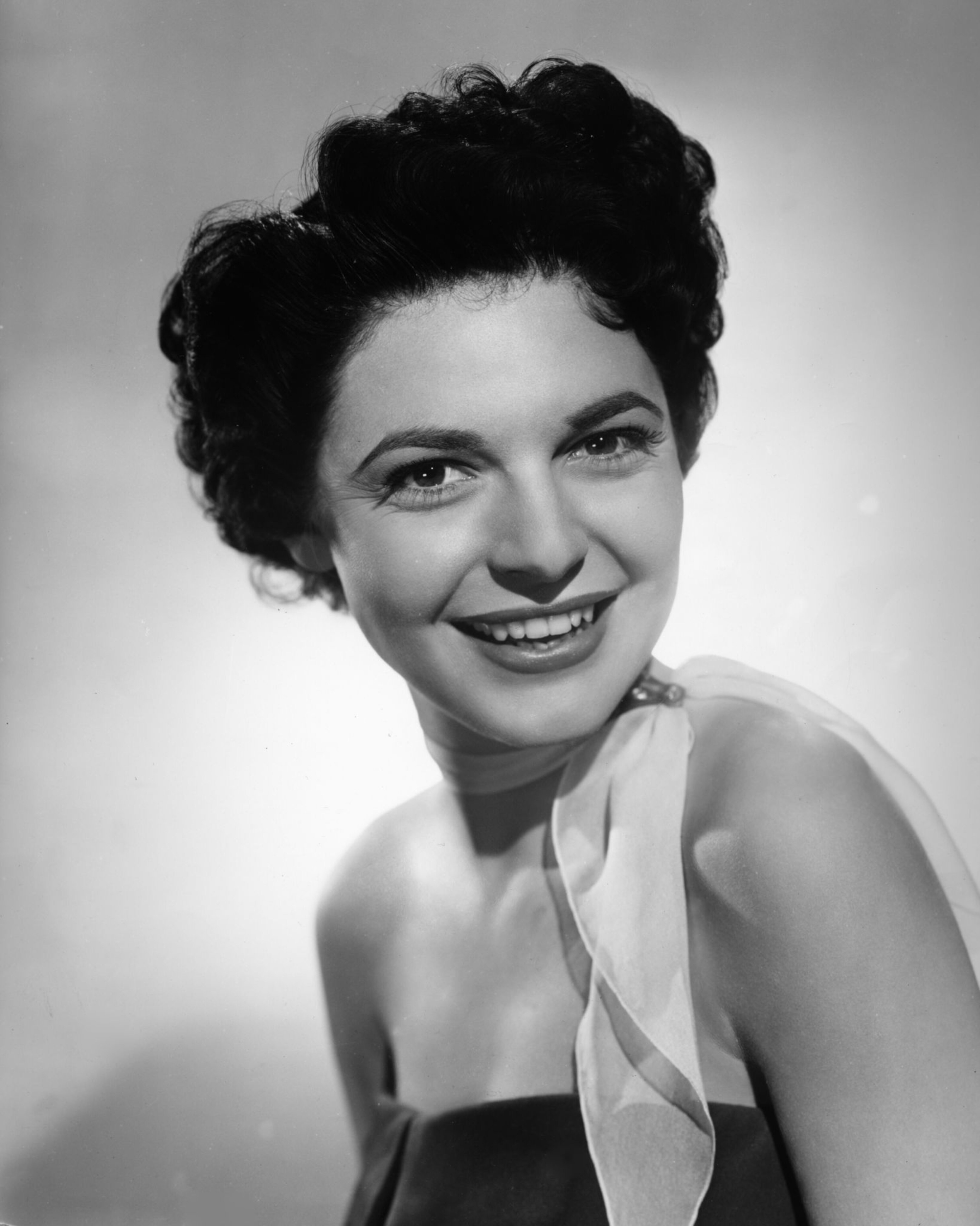 Publicity photo of Anne Bancroft in ''[[Don't Bother to Knock]]'' (1952)