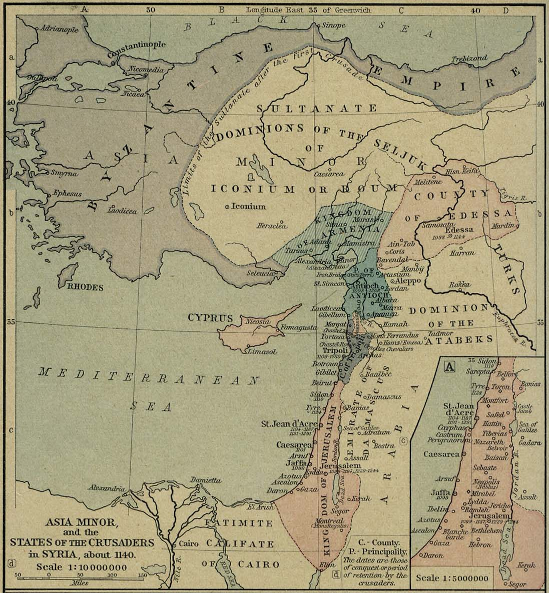 Batalla de Miriocéfalo Asia_Menor_y_Estados_Cruzados_-_1140