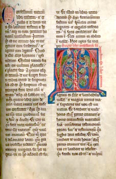 A 13th-century manuscript from Augustine's book VII of Confessions criticizing Manichaeism.