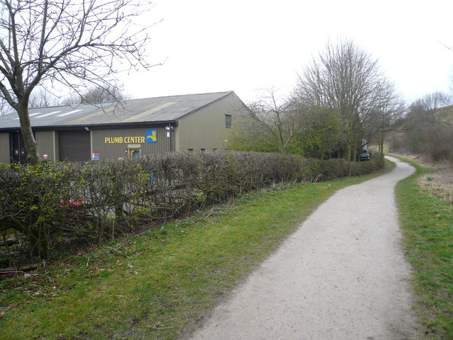 Bakewell Station Industrial Estate - Monsal Trail View - geograph.org.uk - 720738