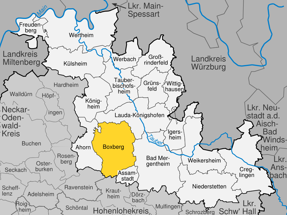 Bad Mergentheim Germany  city photos : Boxberg im Main Tauber Kreis Wikimedia Commons