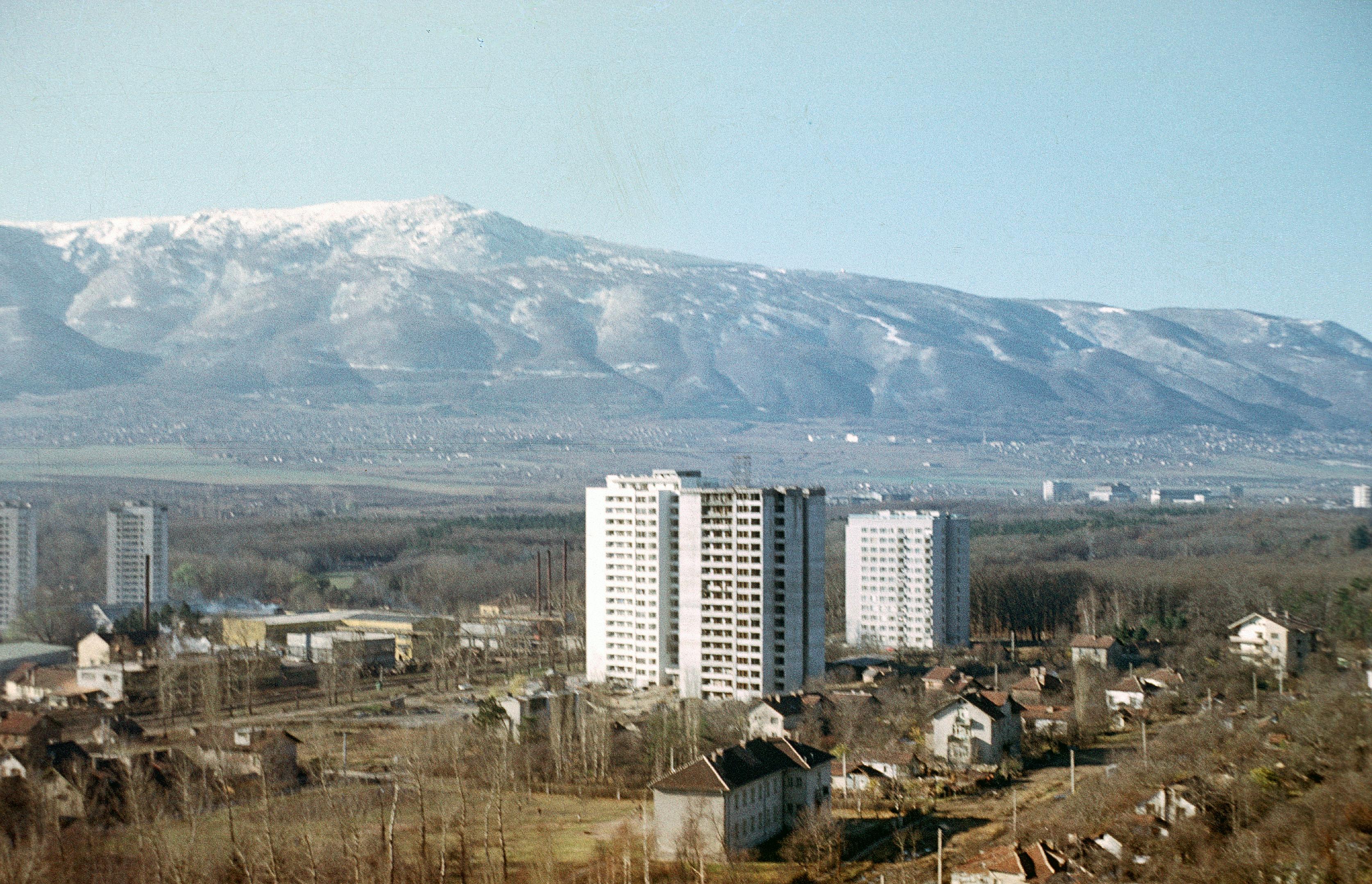 Description Bulgarien um 1970 Sofia, Sofioter Ebene und Witoscha im ...