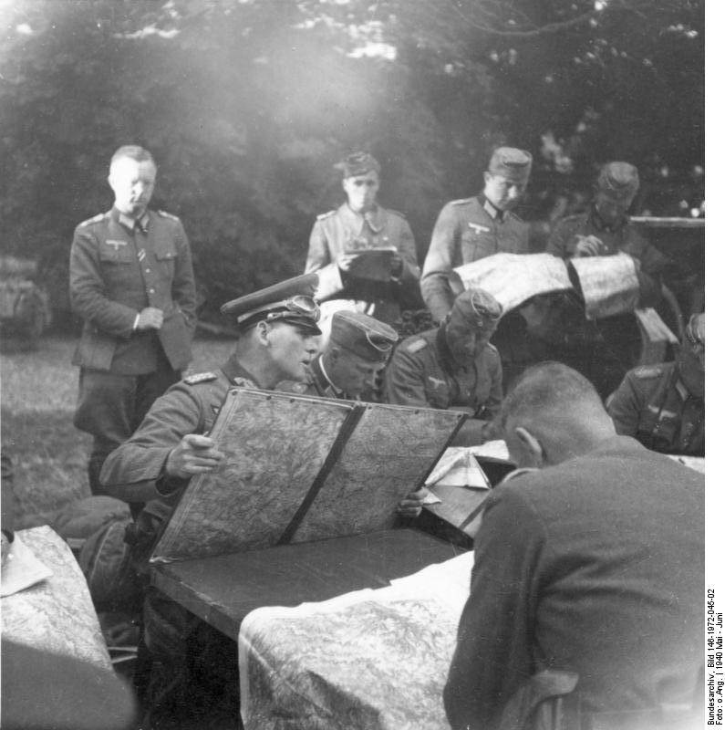 Rommel with his staff