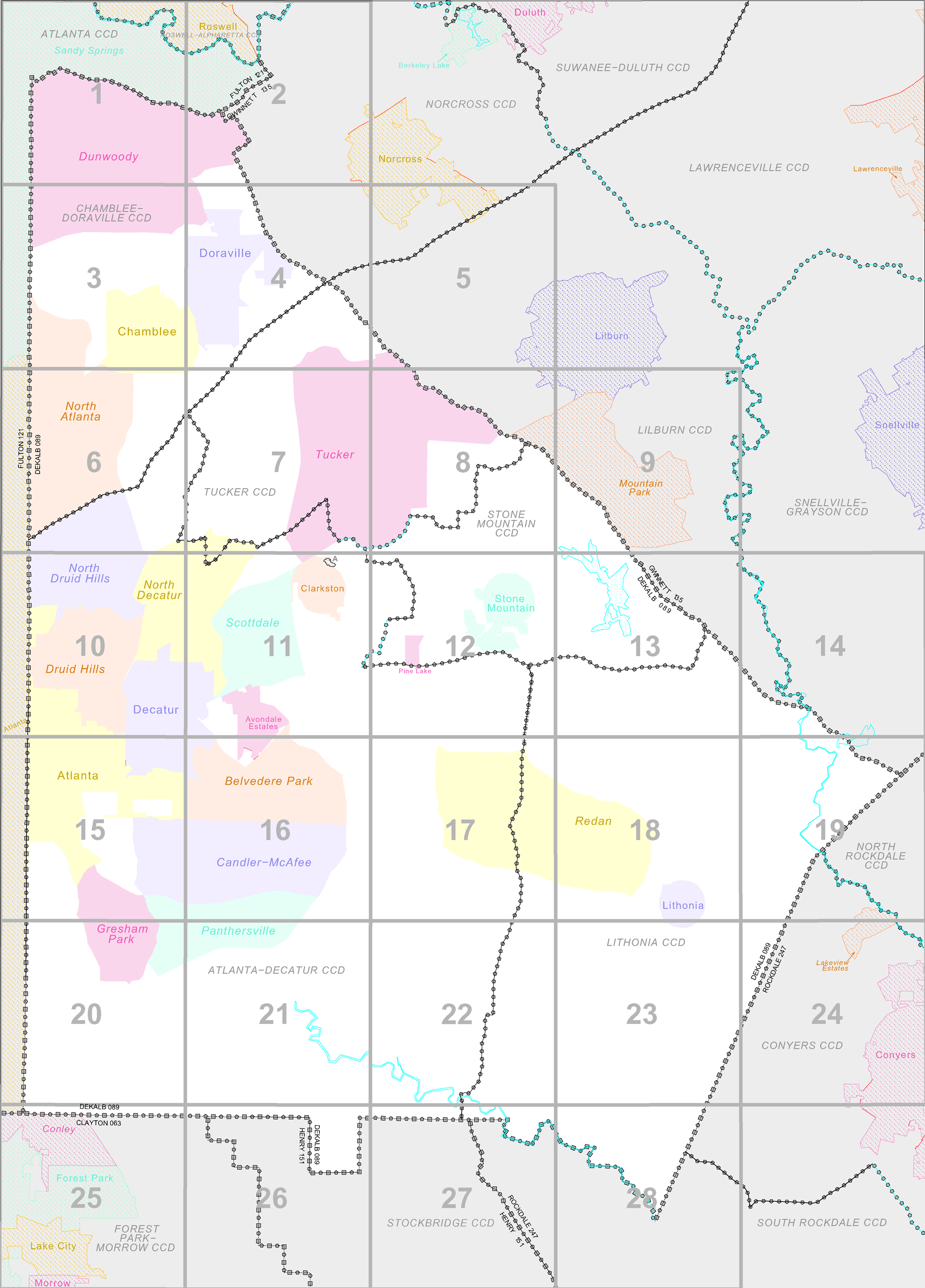FileCensus Block Map DeKalb County Georgia United States - Us census block map