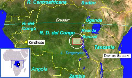 República Democrática del Congo, zona en la que actuaba la guerrilla a la que se integró el CheGuevara.