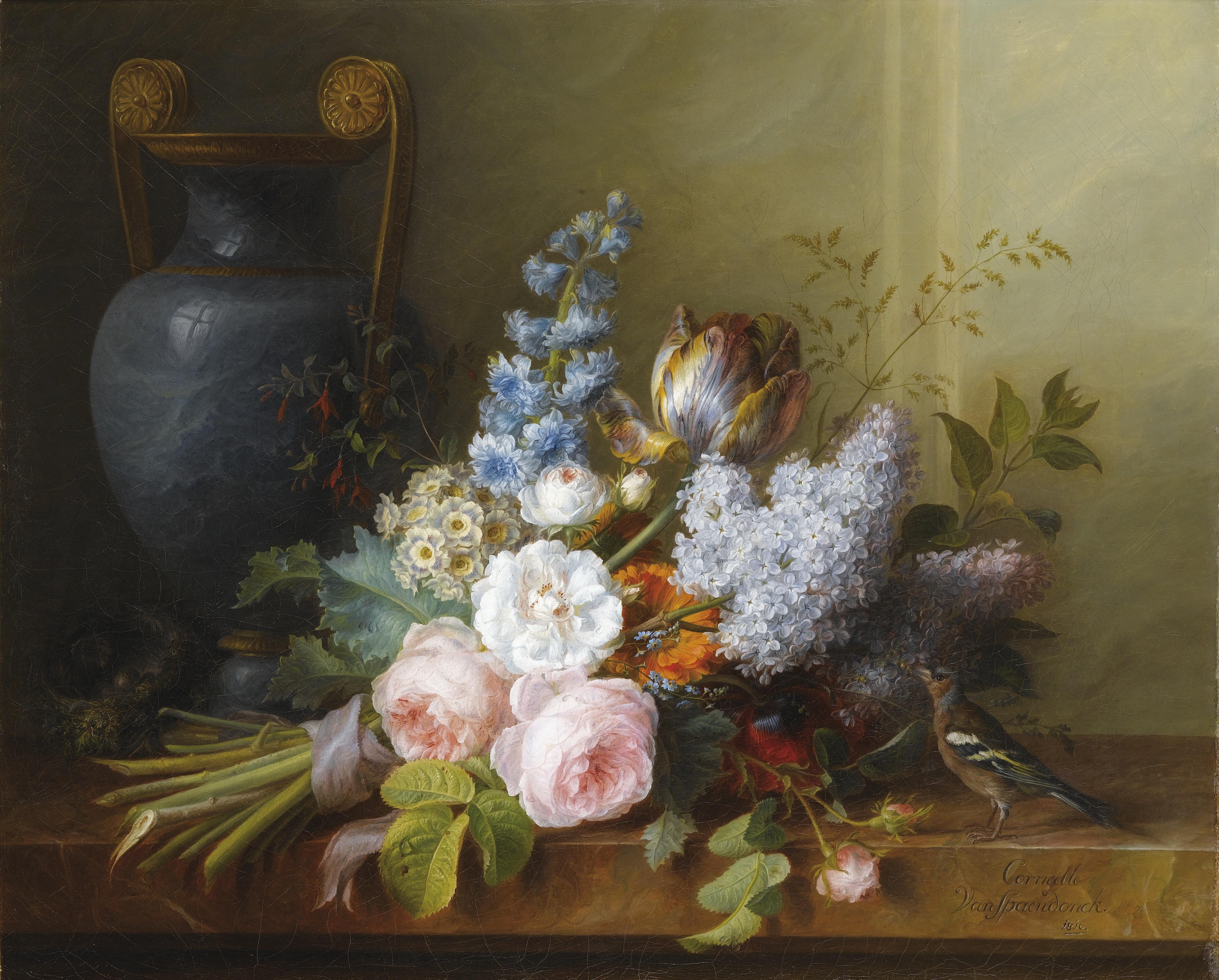 File cornelis van spaendonck bouquet de fleurs au nid d 39 wi - Idee bouquet de fleur ...