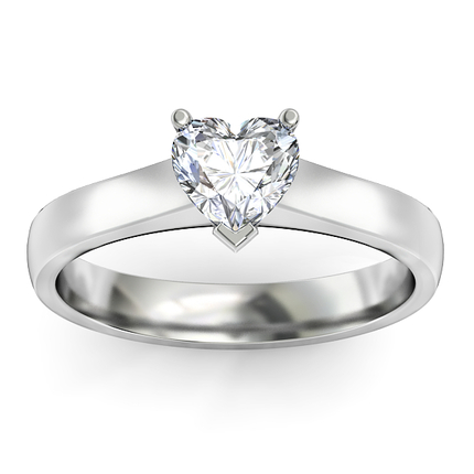 File Diamond Engagement Ring White Gold by 1791 Diamond