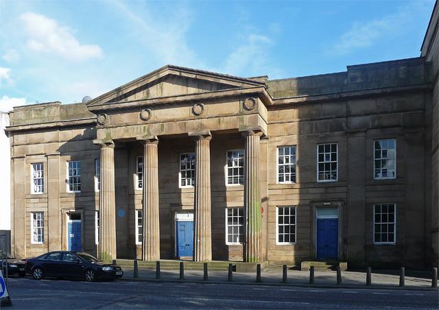 Facade to former town hall, Chorlton-on-Medlock.jpg