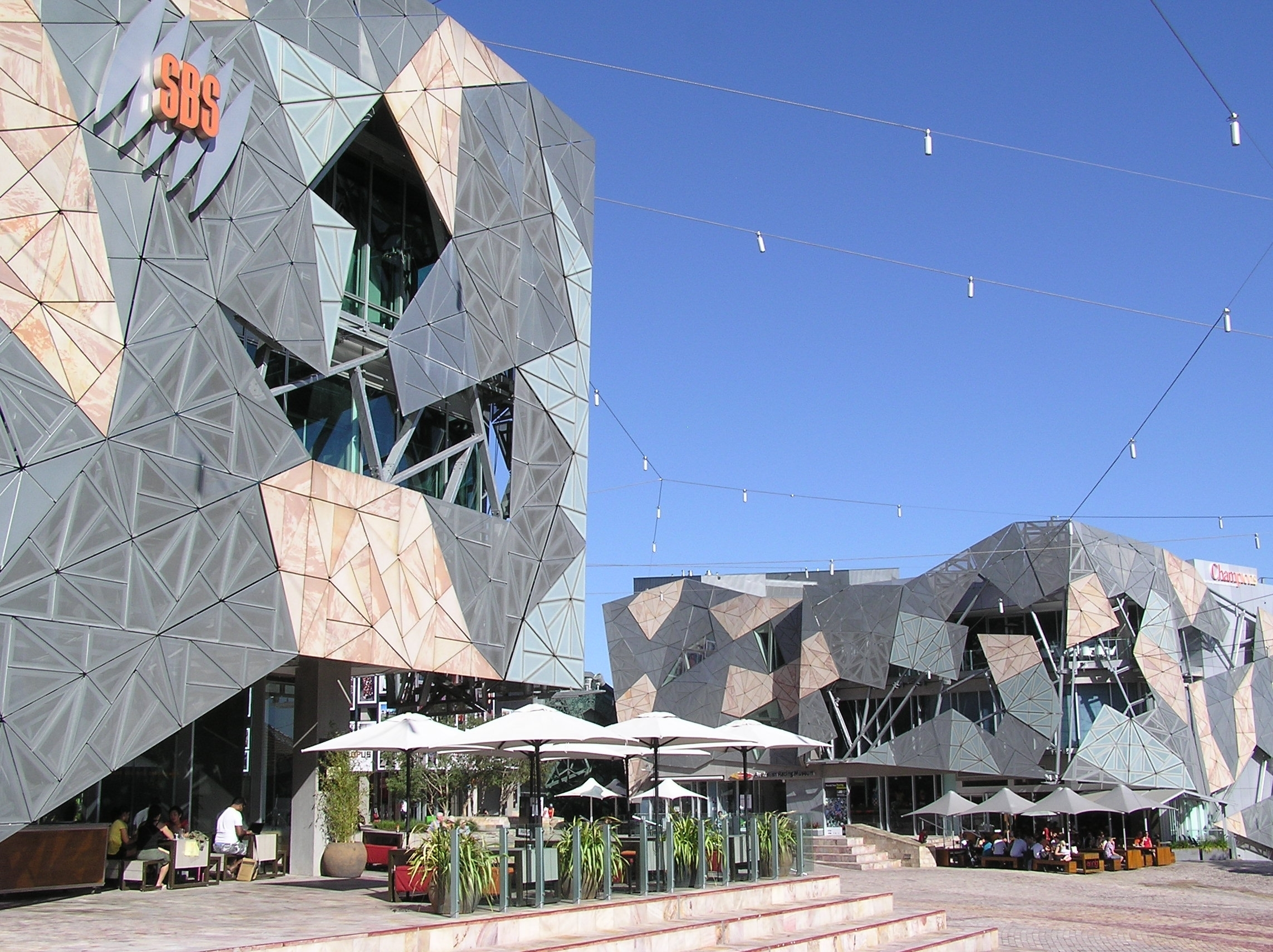 Geometry in architecture. Bold image of buildings. - LAB Architecture Studio: Federation Square, Melbourne