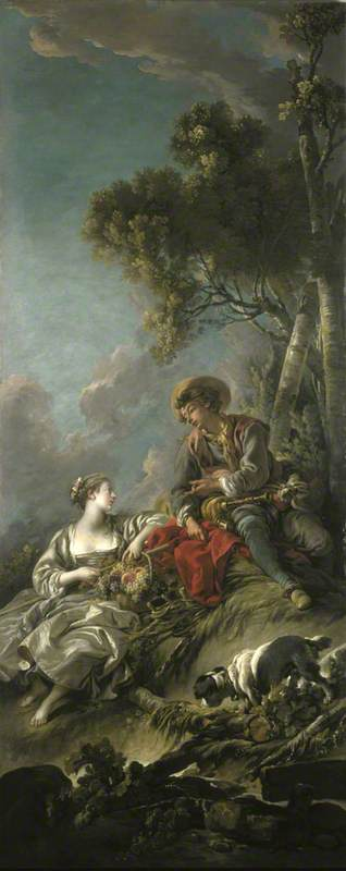 File François Boucher 1703 1770 A Pastoral Scene L Aimable Pastorale Ng 2442 National Galleries Of Scotland Jpg Wikimedia Commons