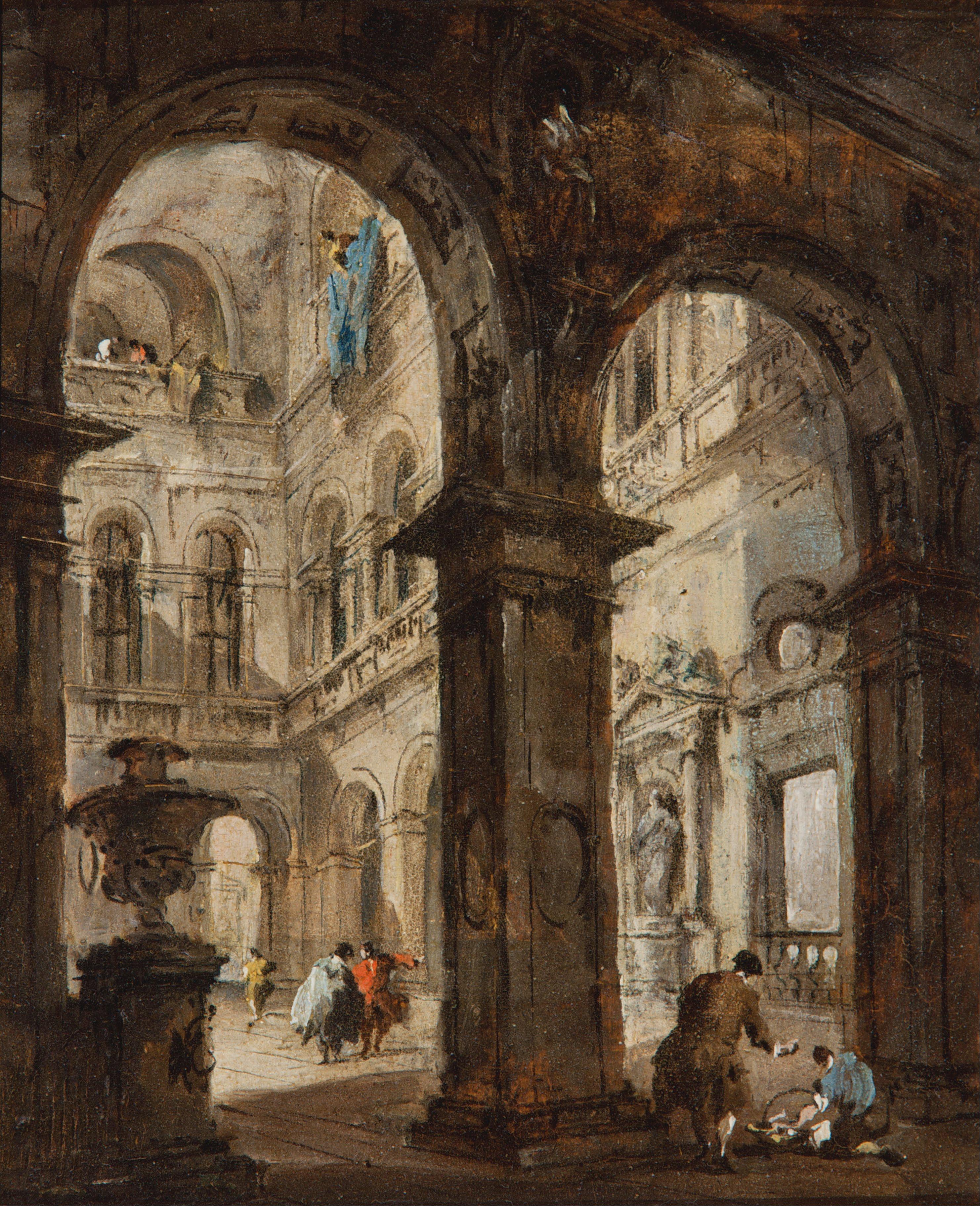 File francesco guardi an architectural capriccio for Art architectural