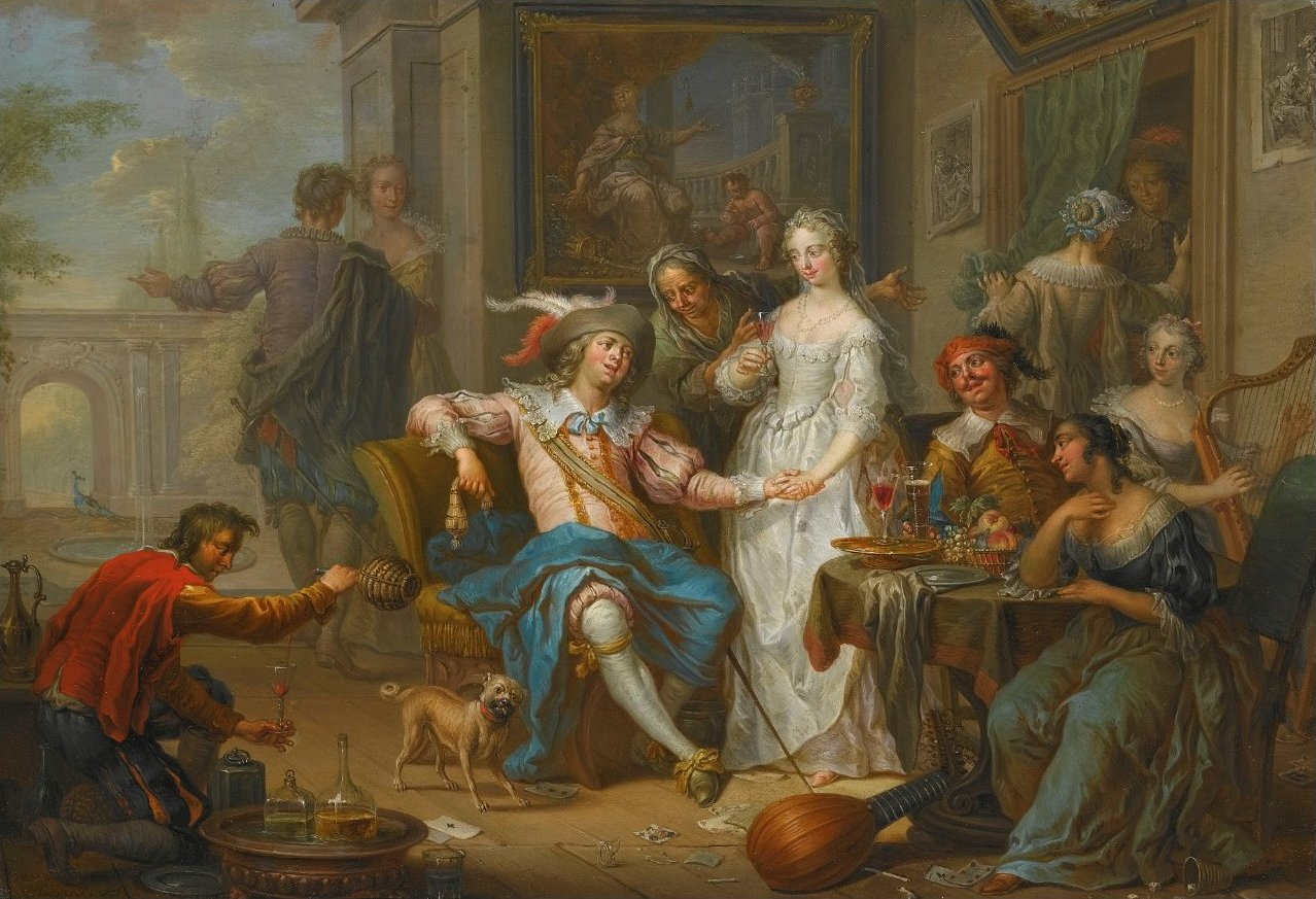 https://upload.wikimedia.org/wikipedia/commons/5/5d/Franz_Christoph_Janneck_-_The_Prodigal_Son_Spending_his_Money_in_Riotous_Living.jpg