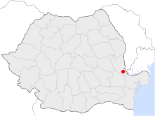 Location of Galați