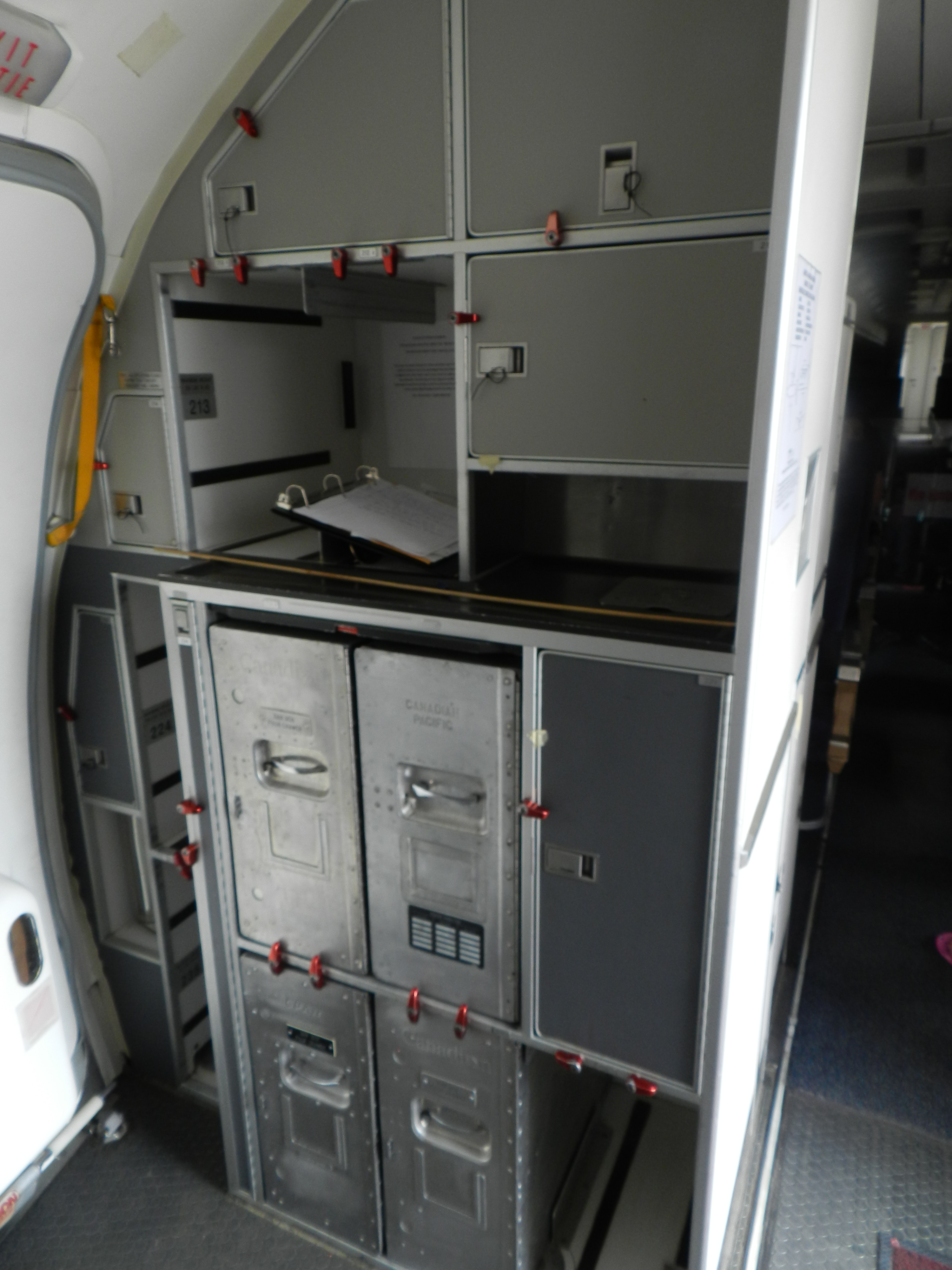 galley in aircraft file galley pacific western b737 at the alberta aviation 387