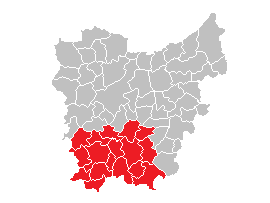 English: Municipalities in the region Vlaamse ...