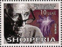 Gjon Mili 2008 stamp of Albania.jpg