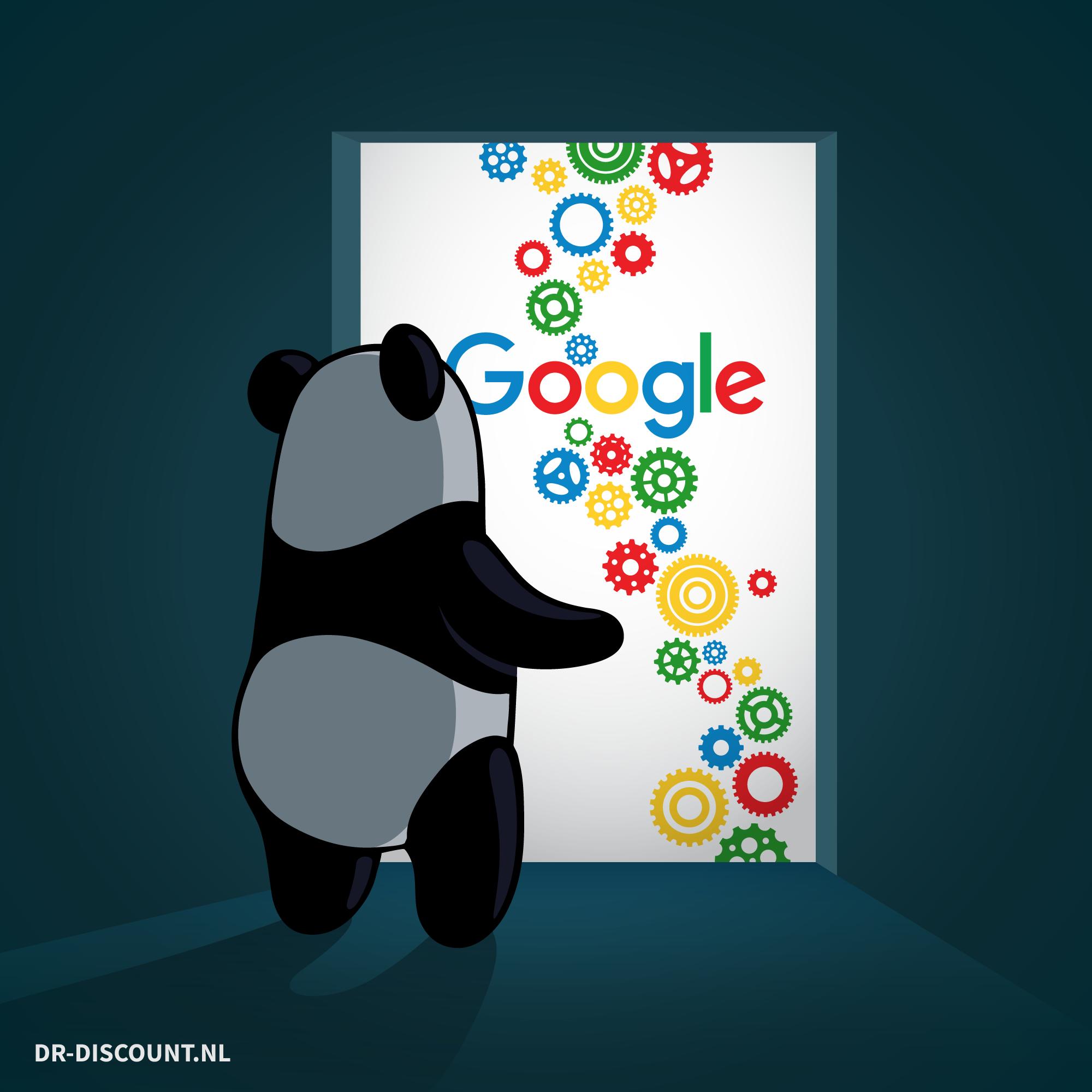 """Google Panda Update - dr-discount, CC BY-SA 4.0 <https://creativecommons.org/licenses/by-sa/4.0>, via Wikimedia Commons"""" width=""""771″ height=""""771″></p> <p>La chiave del suo funzionamento era il cosiddetto """"quality score"""" – un punteggio di qualità assegnato alle pagine web utilizzato come <strong>fattore di ranking</strong> (e integrato dal 2016 nella lista dei 200 fattori di ranking di Google). In concreto, Panda cercava di combattere i contenuti di scarsa qualità – come ad esempio contenuti duplicati, plagiati o <em>sottili</em>, e poi anche lo <strong>spam user-generated</strong> e l'uso del keyword stuffing e testi sovraottimizzati – e di proporre risultati che rispettassero criteri ben definiti, sintetizzati nelle famose 23 domande per <a href="""