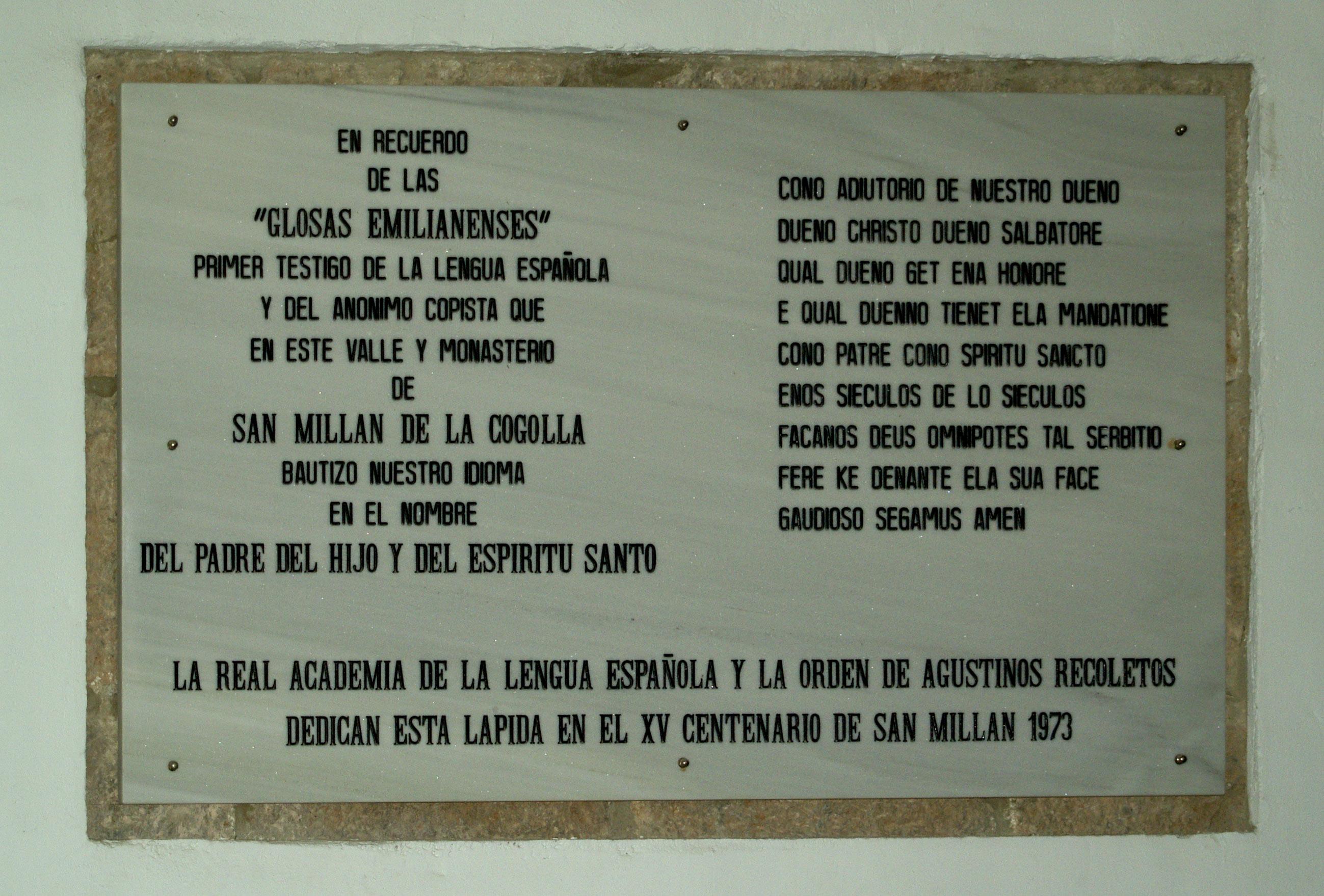 Archivohomenaje Milenario Lengua0jpg Wikipedia La