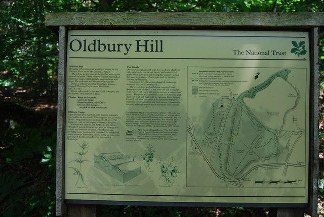 Information board Oldbury Hill - geograph.org.uk - 856779
