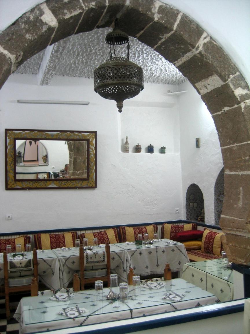 File interior design at a moroccan restaurant in the city