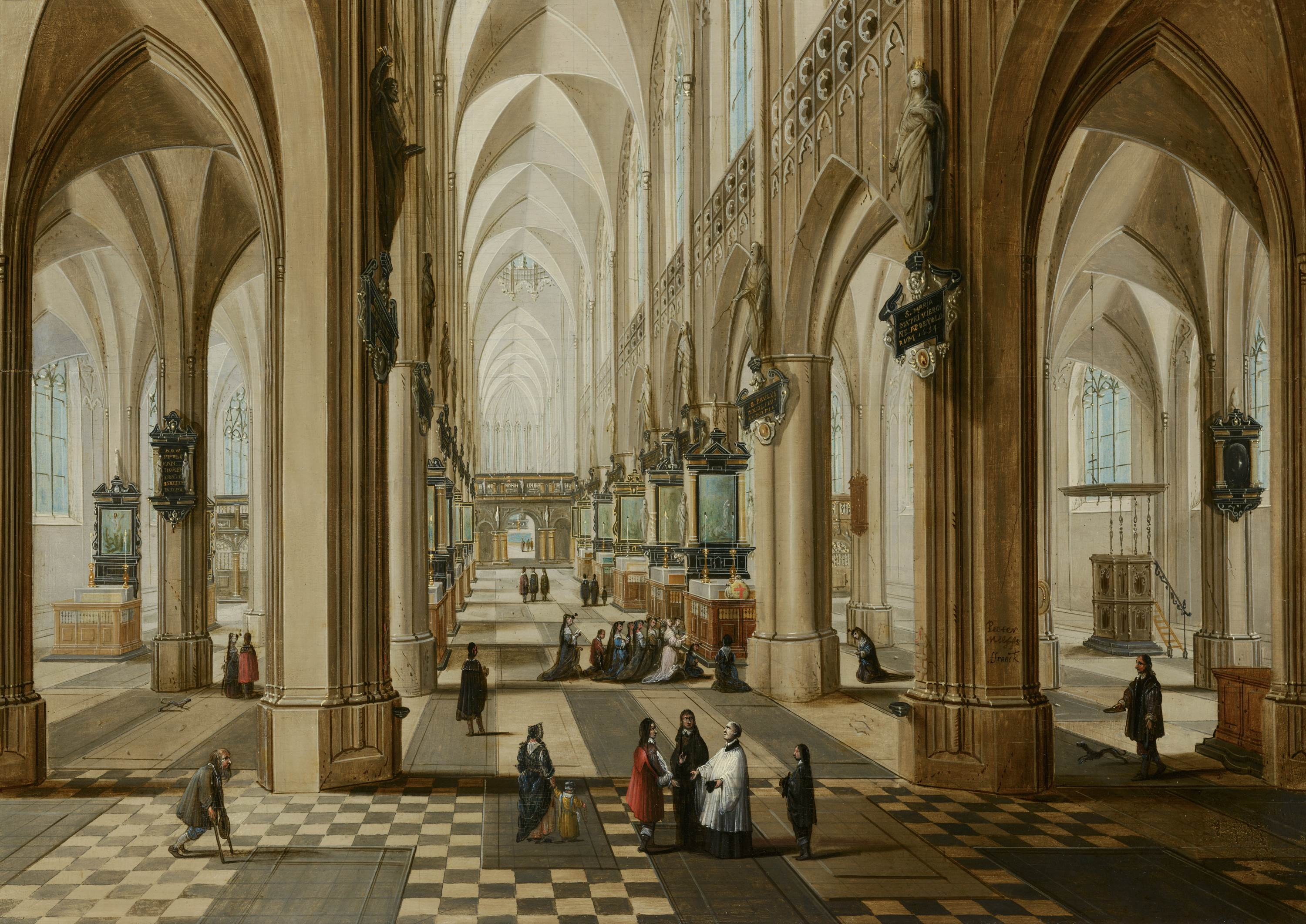 File interior of the onze lieve vrouwekerk in antwerp by for Interieur antwerpen