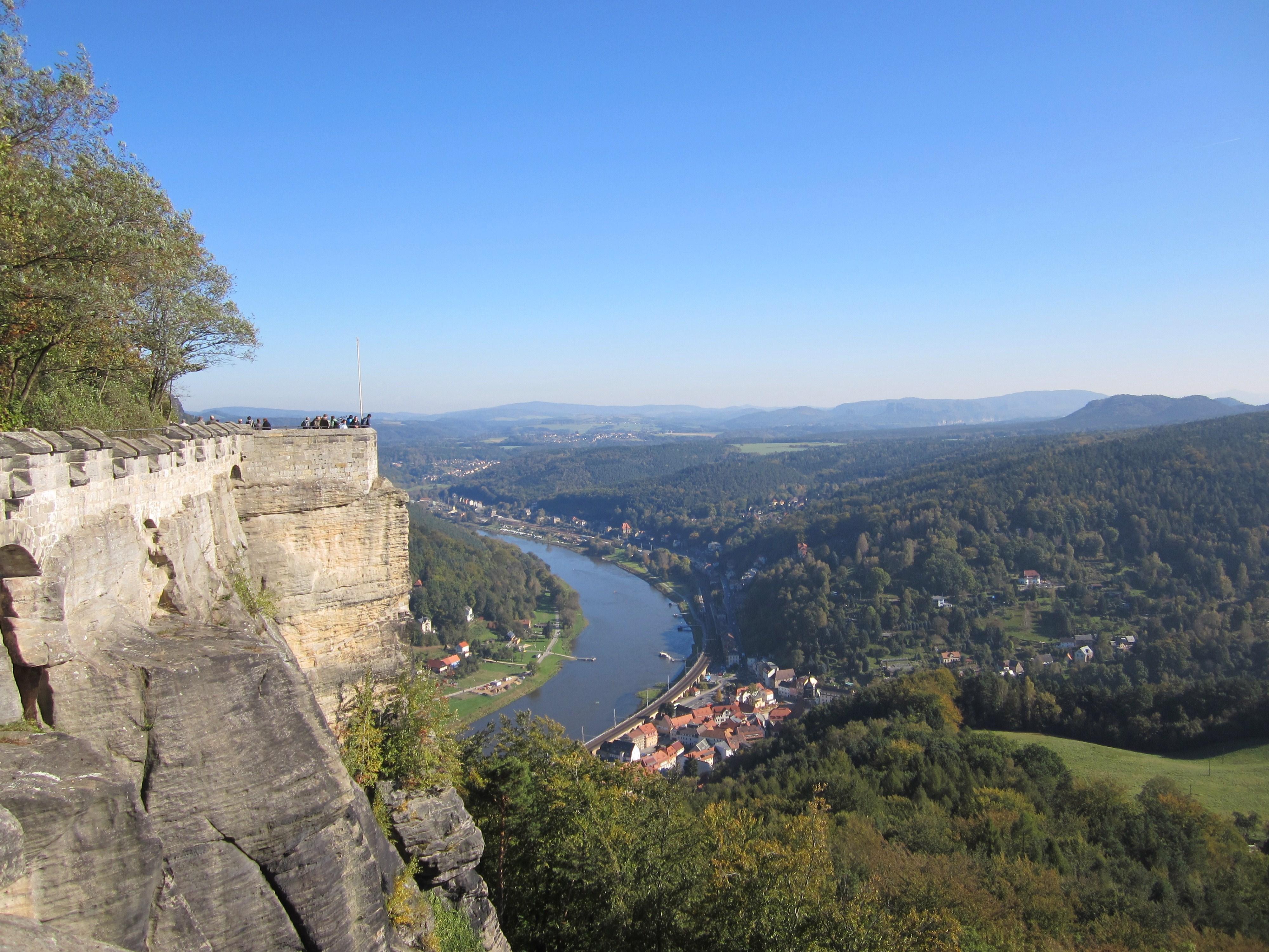 Blick auf Königstein von der Festung Königstein