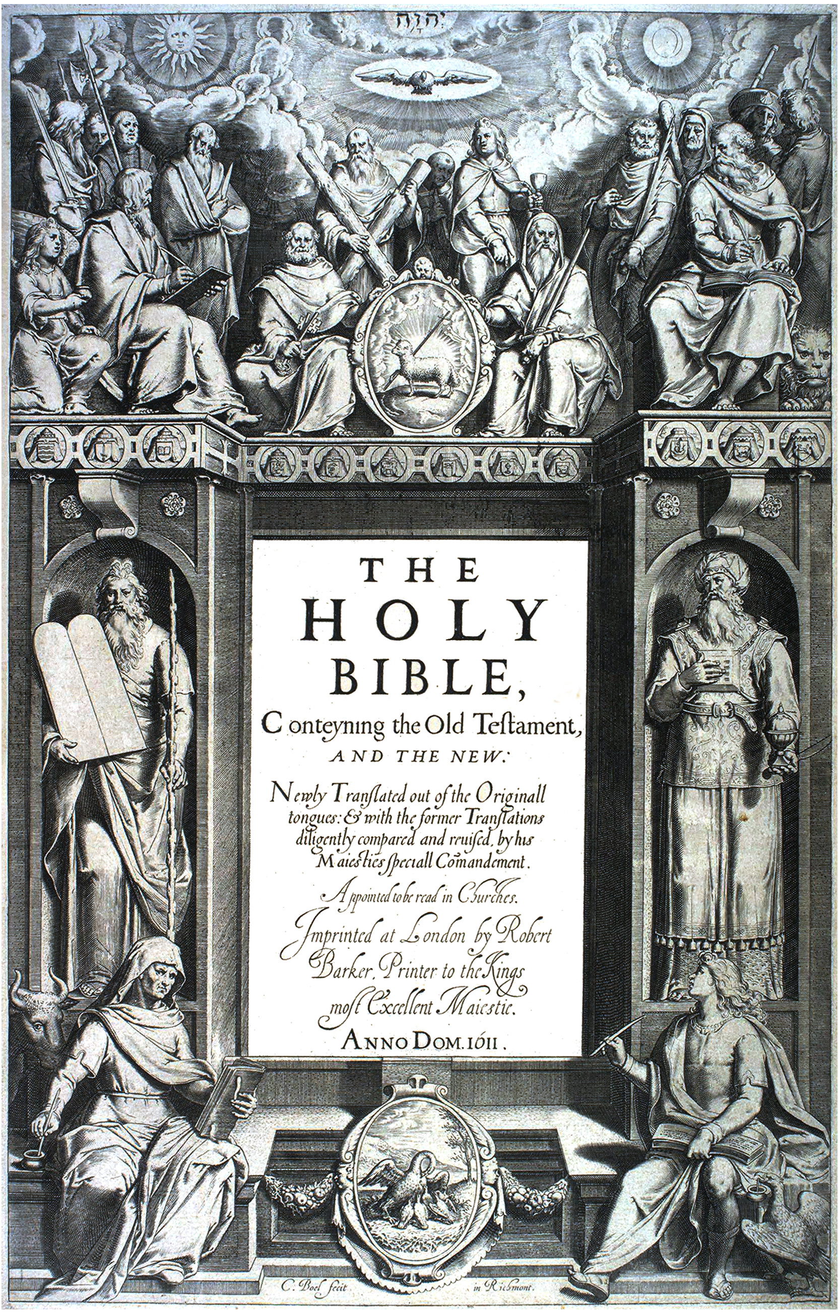 Title page of original KJV Bible