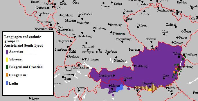 németország ausztria térkép Fájl:Languages and ethnic groups in austria3.png – Wikipédia németország ausztria térkép