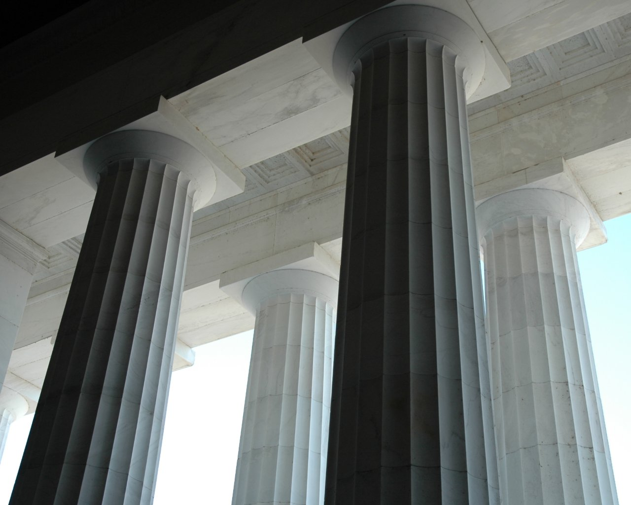 Colonnes du Lincoln Memorial à Washington D.C.