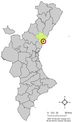 Vị trí của Moncófar
