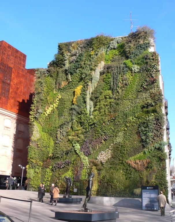 Ecologia estrema i giardini verticali jacopo fo buone - Giardino verticale madrid ...