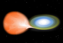 Artist's conception of a white dwarf star accr...