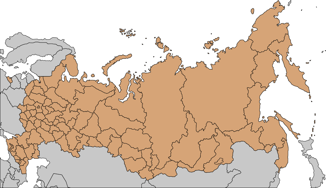 FileMap Of Russian Subjects Png Wikimedia Commons - Blank map of russia