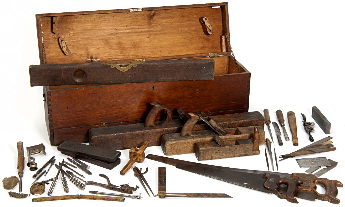 old fashioned tool box