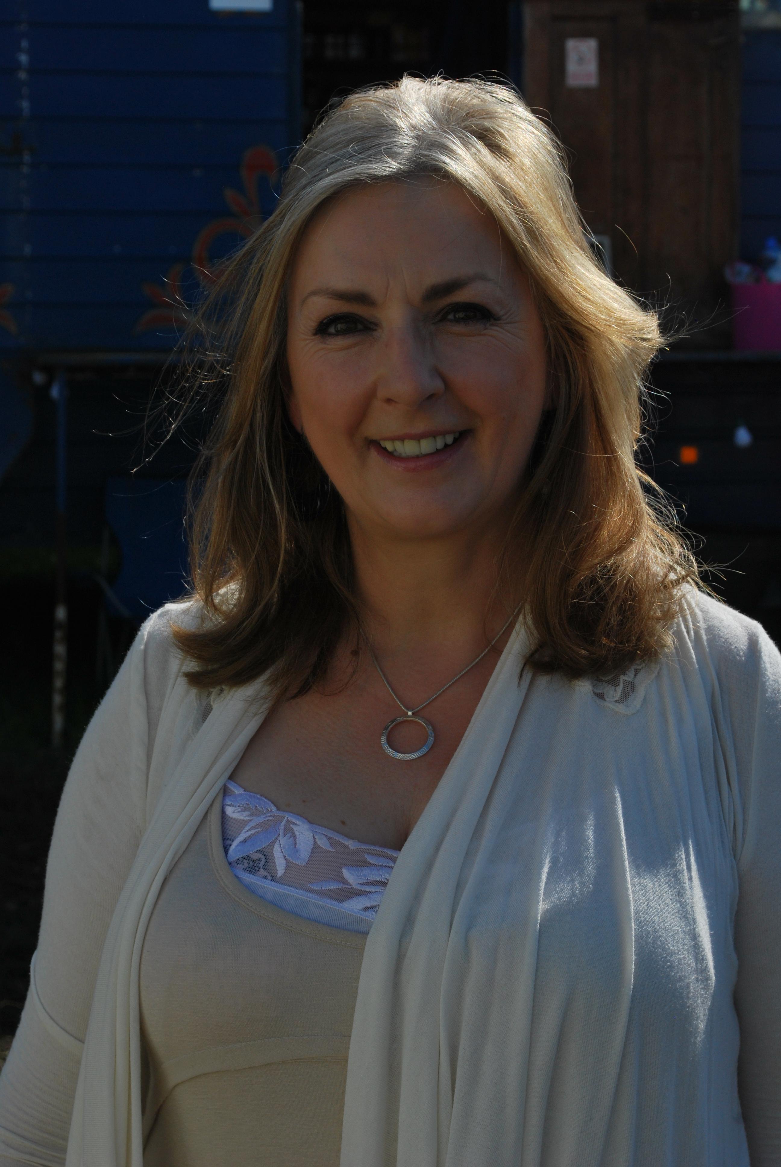 Moya Brennan backstage at Glastonbury 2011