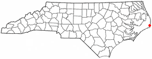 Location of Avon, North Carolina
