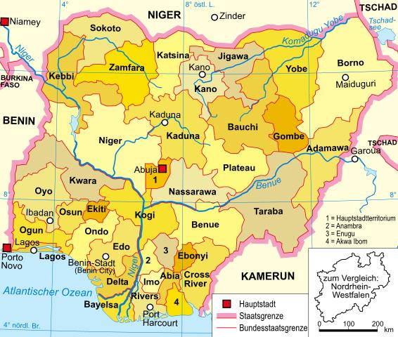 nigeria karte Datei:Nigeria karte politisch.png – Wikipedia