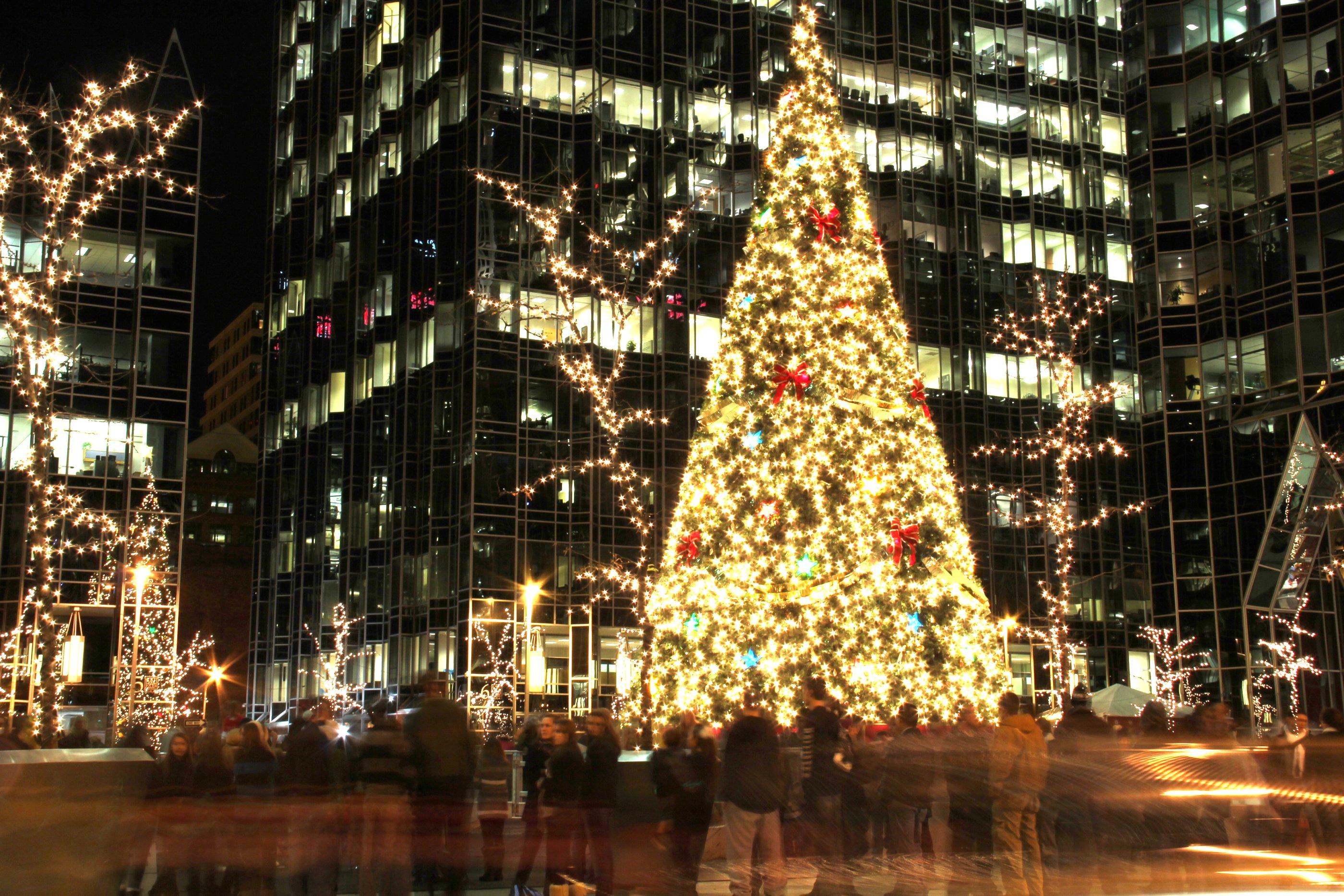 Christmas Tree With Big Lights