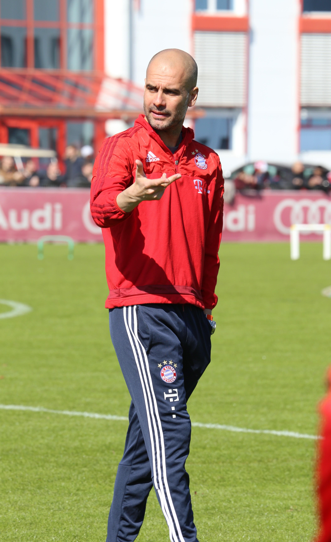Bayern Trainer Pep Guardiola