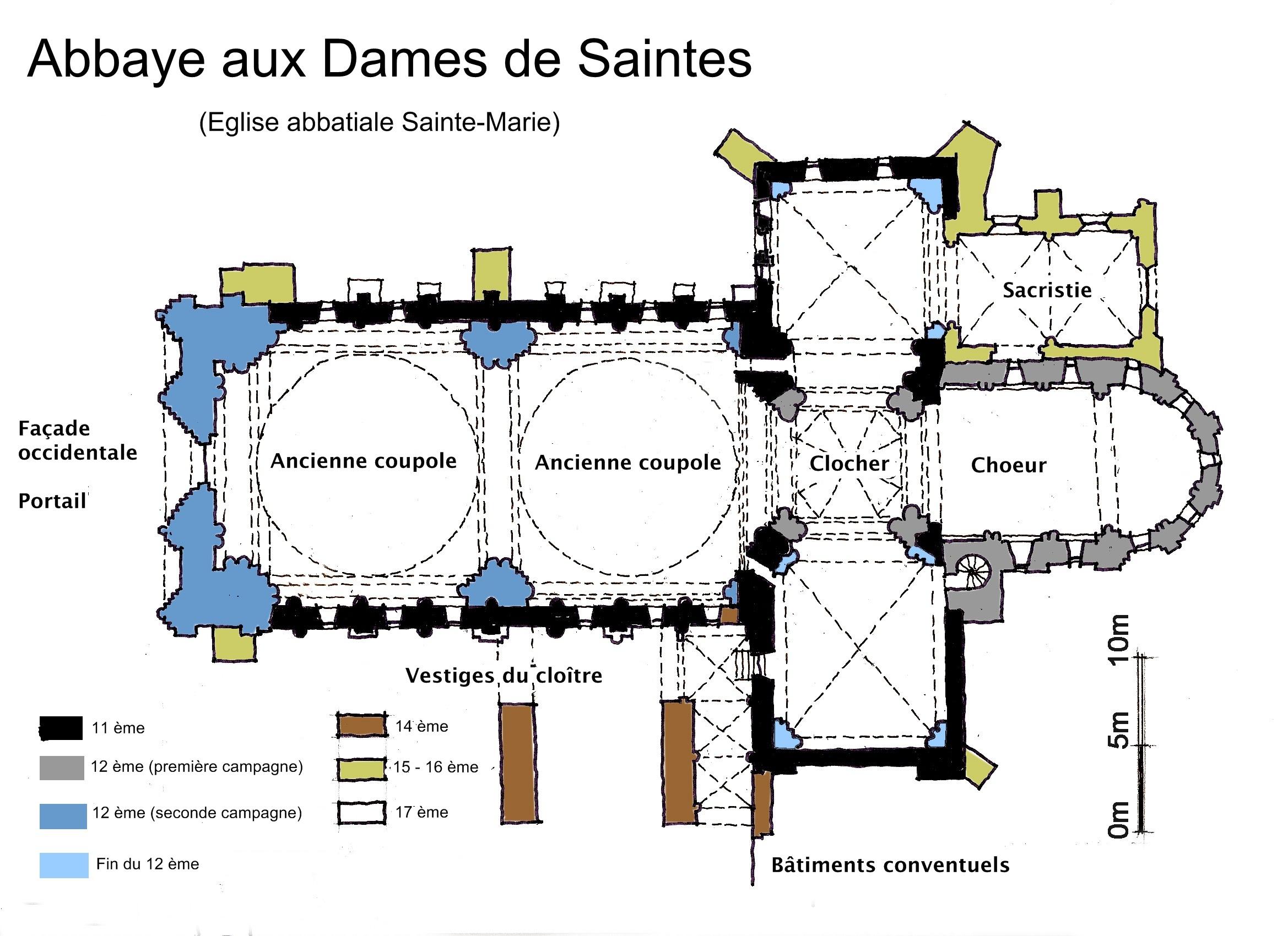 Floor Plan Layout File Plan De L 233 Glise Sainte Marie De L Abbaye Aux Dames