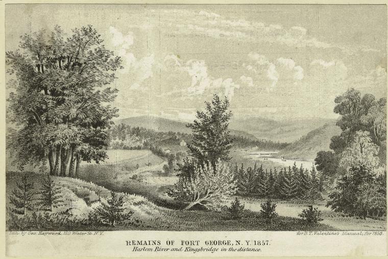 File:Remains of Fort George, N.Y. 1857 - Harlem River and Kingsbr - (3990097877).jpg
