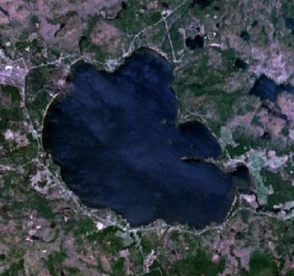 Satellite photo of Round Lake, Renfrew County,...