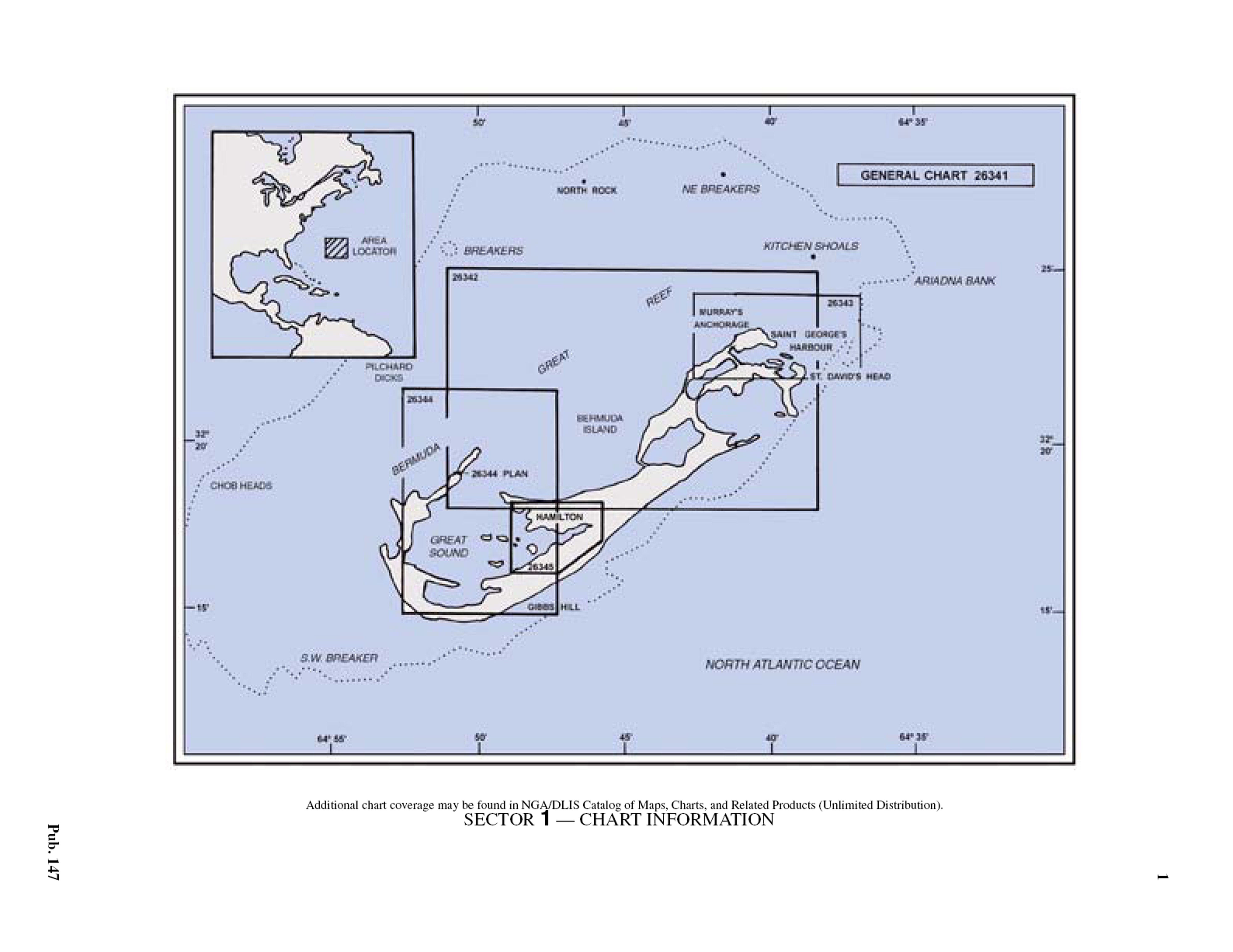 Marine Charts App: SAILING DIRECTIONS-ENROUTE-Caribbean Sea Vol 1-4Sector 1 ,Chart