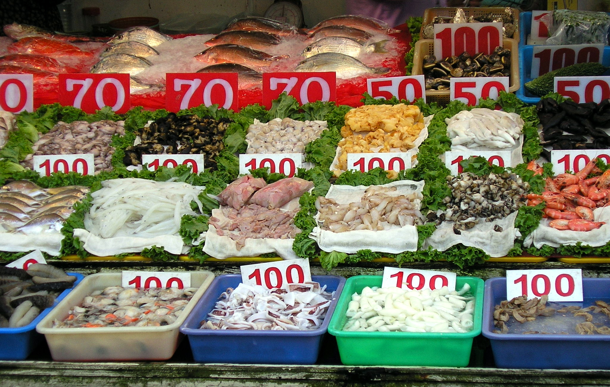 List Of Types Of Seafood Wikipedia