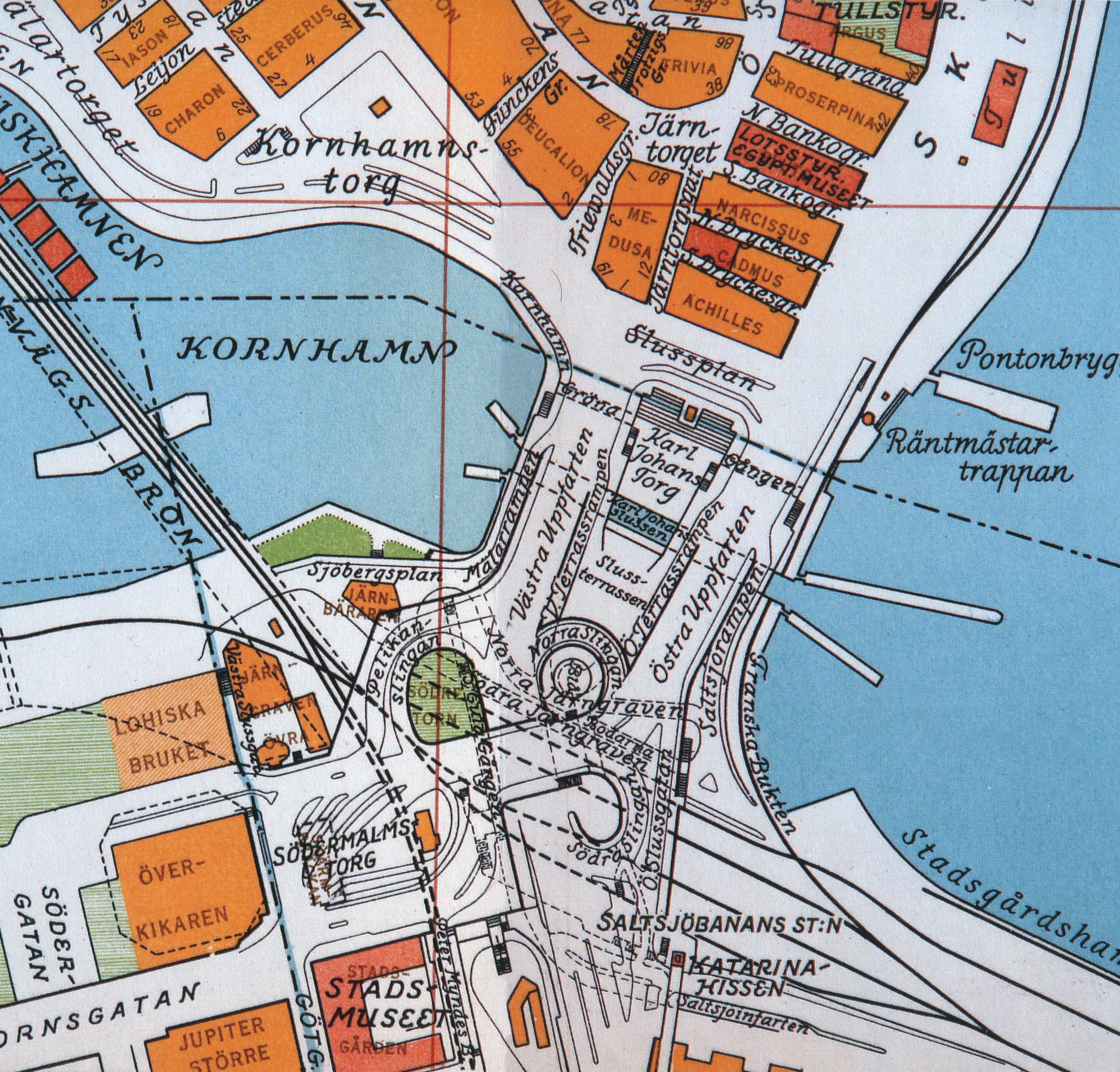 File Slussenomradet Karta 1936 Jpg Wikimedia Commons