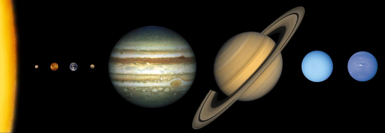 Настин уголок Мой доклад презентация для школы Солнечная система Планеты Солнечной системы в масшатабе относительно друга друга и Солнца