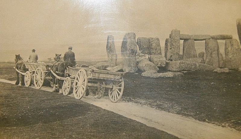 File:Stonehenge with farm carts, c. 1885.jpg