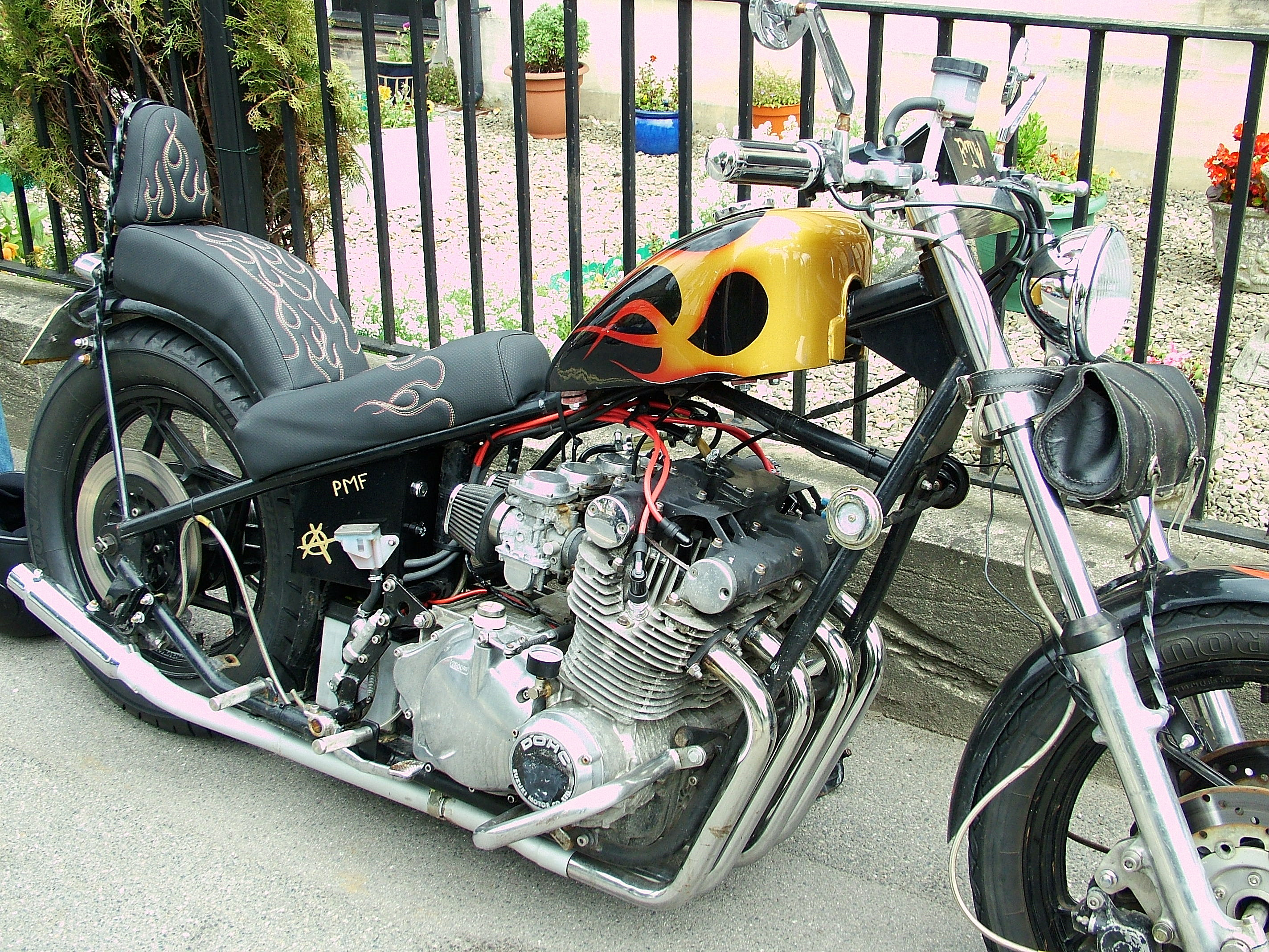 Filesuzuki Gs Chopper Pmf Wikimedia Commons Motorcycle Suzuki Custom